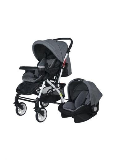 4 Baby 4 Baby Eagle Travel Sistem Çift Yönlü Bebek Arabası Gri